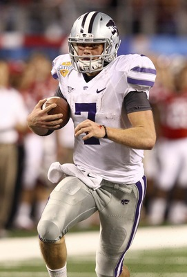 Kansas State quarterback Collin Klein looks to continue what he does best: scoring rushing touchdowns.