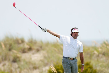 "Bubba Watson can't be yelling ""fore, right"" very often if he expects to contend in the playoffs"