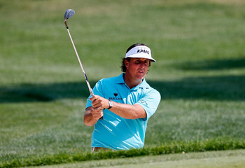 Nobody, even Phil Mickelson, knows where his golf ball might land