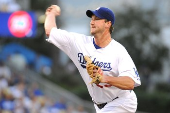Derek Lowe pitched in two postseasons in 2006 and 2008 for the Dodgers.