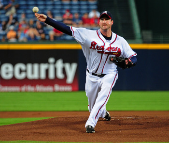 Derek Lowe led the National League in games started four times.