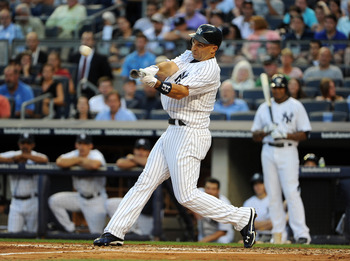 New York Yankees right fielder Raul Ibanez.