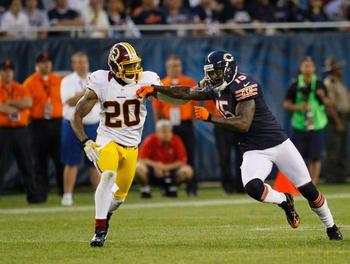 Cedric Griffin struggled against new Bear Brandon Marshall. (AP)