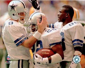 Troy Aikman (8), Emmitt Smith (22) and Michael Irvin (88) turned the Dallas Cowboys into a dynasty. Imagine if that had to end after just one year.