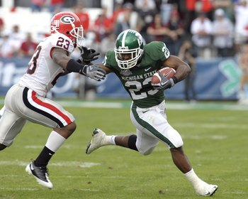 Javon Ringer had a great career at Michigan State, amassing 4,398 rushing yards.