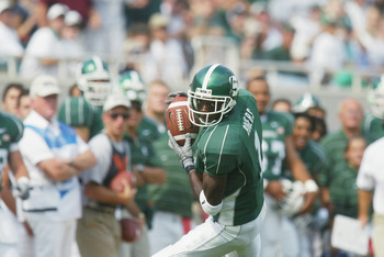Charles Rogers had a great career at Michigan State, but faltered when it came to the NFL.