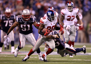 Nicks caught 10 passes for 109 yards in Super Bowl XLVI.