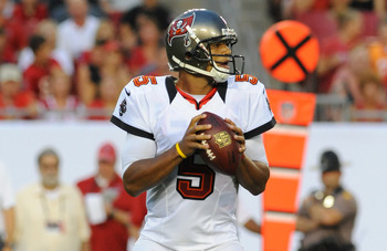 Josh Freeman has a new toy in Vincent Jackson, but they've only connected on one completion through two games.