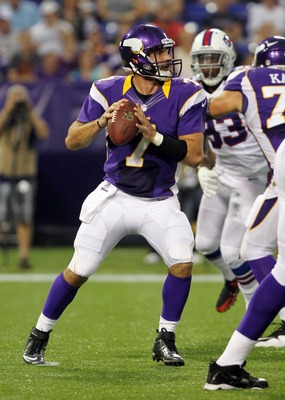 Christian Ponder completed 10-of-13 passes for 136 yards with a touchdown in Week 2 of the preseason.