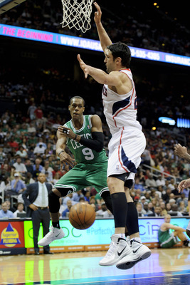Rondo is always looking for the pass with the most pizzazz.