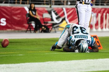 Goodson did not have his best performance on Friday against the Cardinals, losing two fumbles.