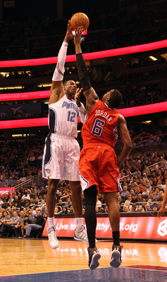 DeAndre Jordan is big enough to bang with Dwight Howard in the paint.