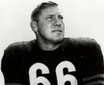 Clyde Bulldog Turner (photo courtesy of ChicagoBears.com via AP)