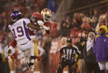 Trenton Robinson fights for the ball in the 49ers preseason opener.
