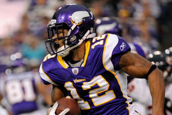 Vikings wide receiver Percy Harvin