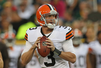 Brandon Weeden, rookie quarterback of the Cleveland Browns