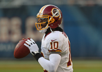 Washington rookie quarterback Robert Griffin III