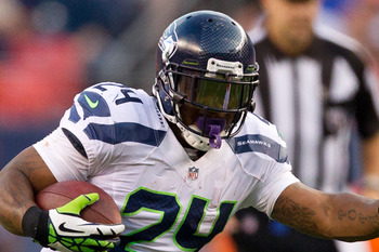 "Marshawn ""Skittles"" Lynch, Seattle Seahawks running back"