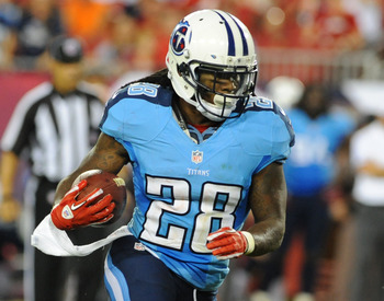 Chris Johnson, running back of the Tennessee Titans