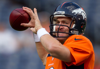 Quarterback Peyton Manning of the Denver Broncos