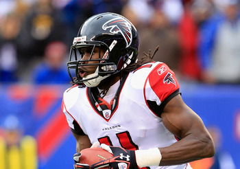 Second-year receiver Julio Jones of the Atlanta Falcons
