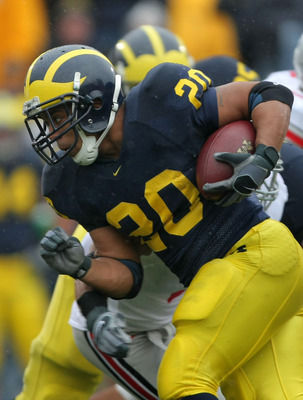 Michigan running back Mike Hart helped spark the Wolverines' 2005 season-opening win over Northern Illinois.