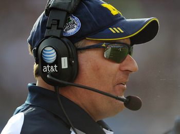 Michigan losts its season-opener to Utah; it was Rich Rodriguez's first game as Wolverines head coach.