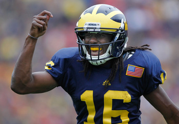 Denard Robinson was beyond effective in Michigan's 2010 season-opener against UConn.