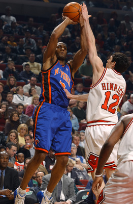 Shandon Anderson getting his shot blocked by Kirk Hinrich