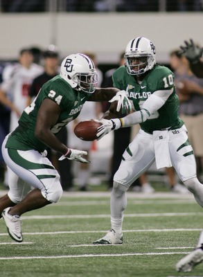 The loss of Terrance Ganaway, left, and Robert Griffin III will be too much for Baylor in 2012.