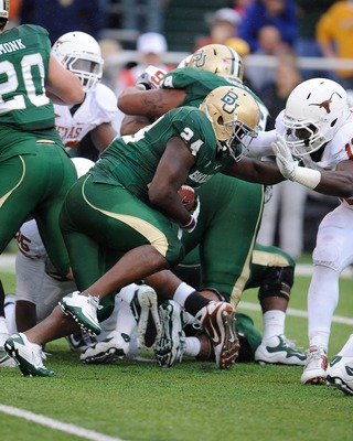 Defenses will stuff the box to stop Baylor on fourth down in 2012.
