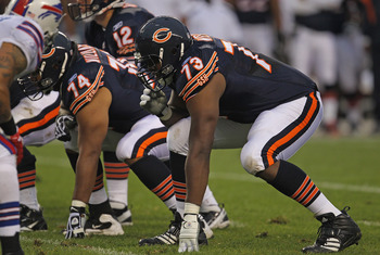 Chris Williams (#74) and J'Marcus Webb (#73)