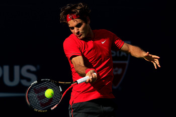 Roger Federer in the final of US Open 2011