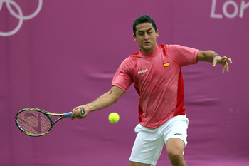 Nicolas Almagro at the 2012 London Olympics