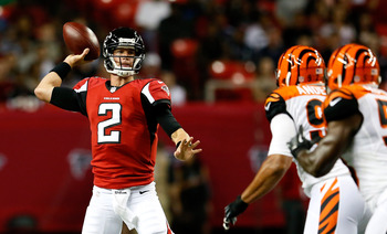 Matt Ryan has completed 27 of his 34 preseason passes.