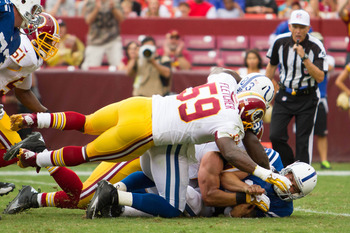 You can usually find Redskins linebacker London Fletcher on top of the action