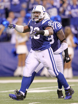 Robert Mathis is now an outside linebacker in the Colts' 3-4 defense