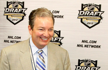 Pittsburgh Penguins general manager Ray Shero at the 2012 NHL Draft in Pittsburgh.