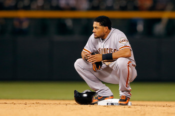 Recently suspended San Francisco Giants LF Melky Cabrera