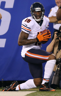 Brandon Marshall after scoring his first-quarter touchdown.