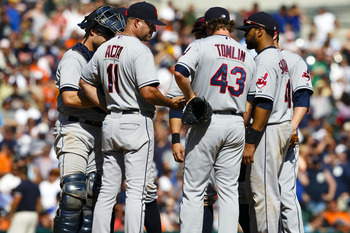 Possible season-long elbow issues have led to Josh Tomlin's disappointing 2012 season.