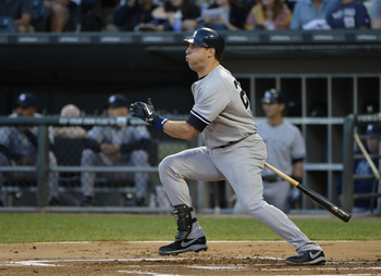 Mark Teixeira hits for power but his batting average is heading south.