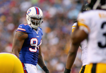 Mario Williams recorded two sacks against the Steelers.