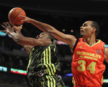 Rasheed Sulaimon attempts a layup in the 2012 McDonald's All-American Game.