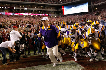 Les Miles and the Tigers will once again provide the biggest obstacle for Alabama in 2012.