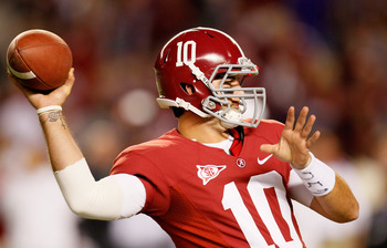 Tide junior quarterback AJ McCarron has the arm and accuracy to give Michigan fits Sept. 1.