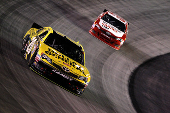 Joey Logano finished eighth at Bristol