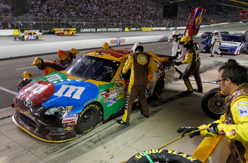 Kyle Busch finished sixth at Bristol