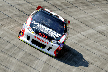 Kasey Kahne finished ninth at Bristol
