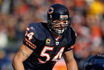 Chicago Bears captain Brian Urlacher
